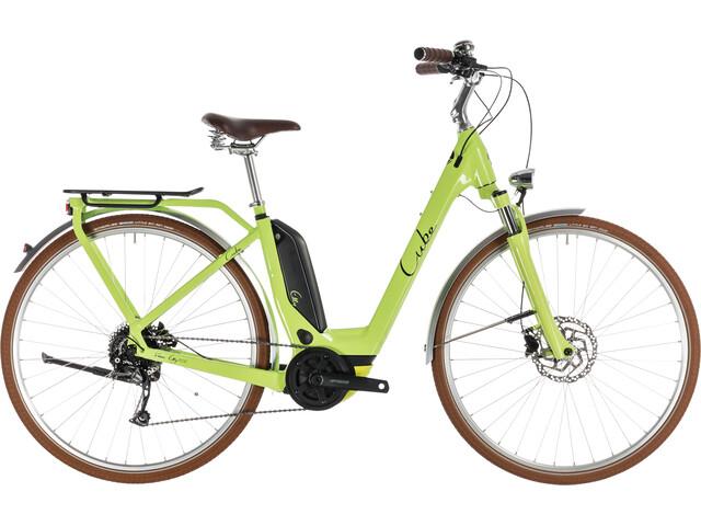 Cube Elly Ride Hybrid 400 Entrada Fácil Mujer, green'n'black